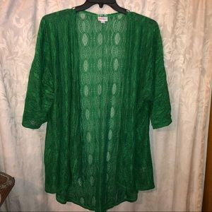 Lila roe cardigan green lace knee length